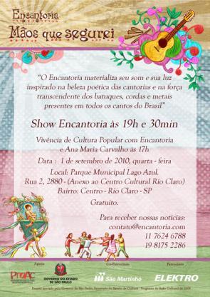 Flyer Show e vivência Rio Claro