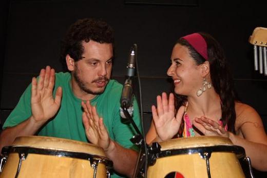 Lucão e Melina na Percussa no SESC Piracicaba 2009